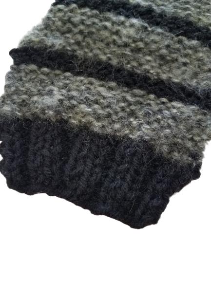 Cozy Teacup Sweater, Black and Gray Sweater, Tiny Pet Sweater, Cold Weather