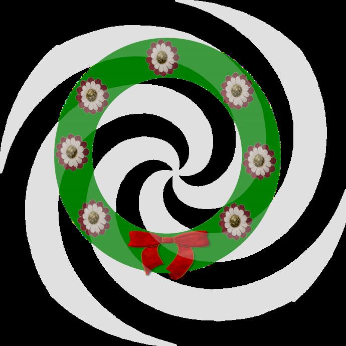 Flower Wreath 2a-Digital ClipArt-Art Clip-Gift