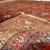 Handmade antique Persian Hamadan rug 4.1' x 6.5' ( 126cm x 200cm ) 1920 - 1C276