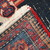 Handmade antique Persian Hamadan rug 3.9' x 5.9' ( 120cm x 180cm ) 1920s - 1C321