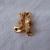 vintage gold crystals teddy bear pin nos gift