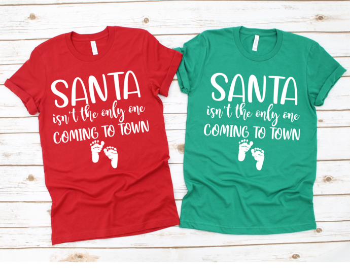 Santa Isn't the Only One Coming To Town, Christmas Pregnancy Announcement,