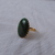 vintage C&C signed gold filled genuine green jade ring sz. 6-1/2