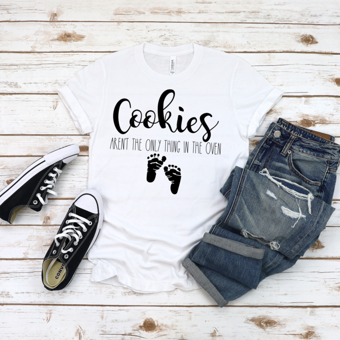 Cookies Aren't the Only Thing in the Oven Shirt, Christmas Pregnancy