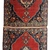 Handmade antique collectible Persian Tabriz double mat rug 1.7' x 4.7' ( 52cm x