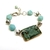 Gift under $25, one of a kind bracelet with textured ceramic bracelet bar and