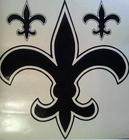 New Fleur-de-lis Vinyl Decals - Self Adhesive Vinyl 11 x 11