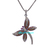 925 Sterling Silver Diamond Butterfly Pendant,Pave Diamond Pendant,Amethyst