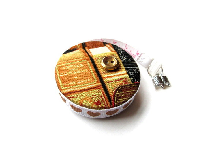 Measuring Tape with Classic Books Small Retractable Tape Measure