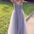 A-line tulle long formal dress prom dress