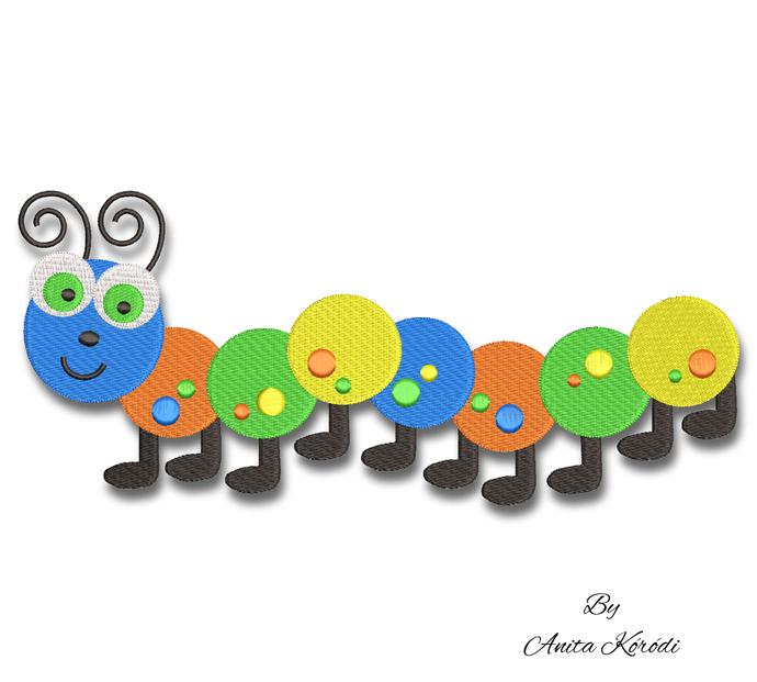Embroidery machine designs caterpillar worm books kindergarten instant download