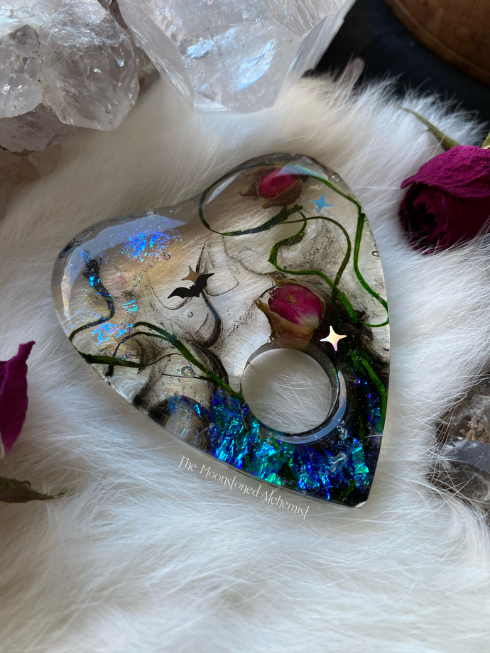 Botanical planchette with Smokey Rose infusion