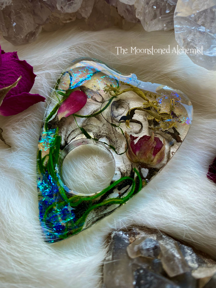 Victorian Botanical planchette with Smokey Rose infusion