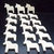 18 Dala Horse Cutouts D-6-25 Unfinished Wood