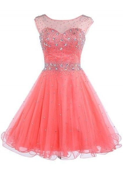 Elegant Tulle Short Homecoming Dresses Beaded Prom Party Gowns H4265
