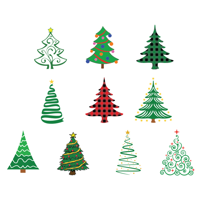 Christmas Tree Svg Bundle Merry Christmas Svg By Bellashop On Zibbet