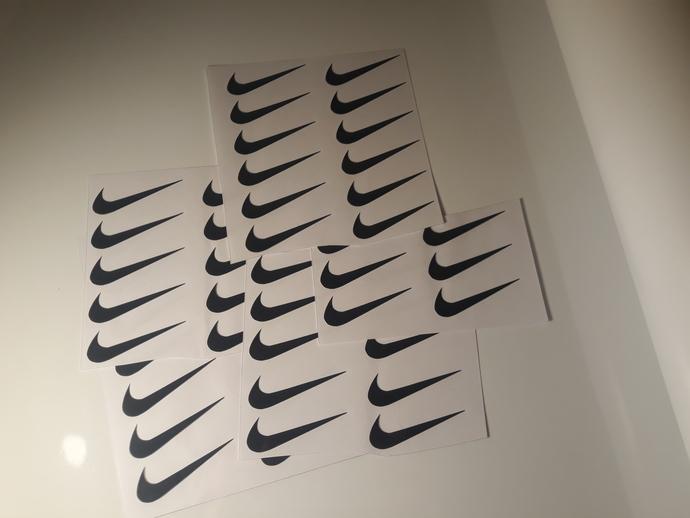 Set of 20 Nike decal! Laptop Decal.