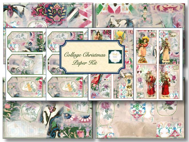 Christmas Collage  Kit