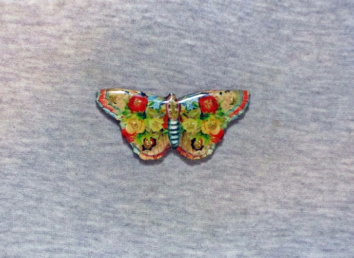 Sparkling Butterfly Cabochon 62mmx30mm