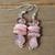 Rhodohrosite Earrings, Rhodochrosite jewelry, Rhodochrosite Dangle & Drop