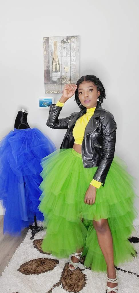 tutu long skirt, tulle skirts,High/Low Skirt,Spring Autumn Skirt S012