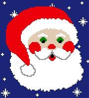 Santa Claus with Snowflakes C2C Crochet Pattern Christmas Corner to Corner