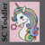 Colorful Unicorn SC Toddler, Graph+Written line by line color coded instruction