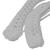 Crocheted Coat Hanger Cover Set White