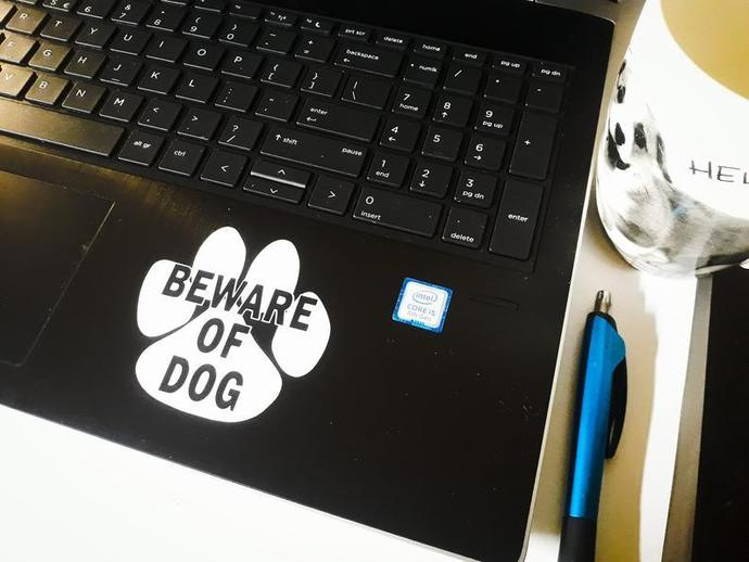 Beware of Dog - Car, Truck, Home, Laptop, Computer Decal.
