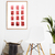Watercolour Wall Art Print, Abstract Painting, Modern Minimalist, Coral