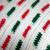 Crocheted Red Green White Coat Hanger Cover Set