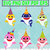 Birthday Family Sharks Character SVG layered and images -PNG -dxf files-