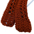 Crocheted Brick Red Coat Hanger Cover Set