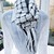 Luxury Hand Woven Scarf – 50/50% Wool and Acrylic – Black and White Deflected