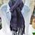 Hand Woven Scarf – Corriedale Wool Warp, Extrafine Merino Wool & Silk Weft -