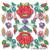 Machine embroidery designs Hungarian Kalocsa flower square folk pes