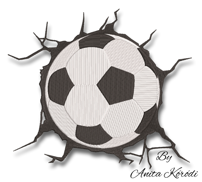 Soccer ball embroidery design pes machine instant digital download