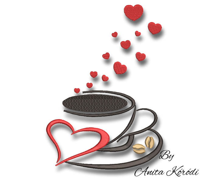 Coffee embroidery design pes lovers kitchen instant digital download cuisine