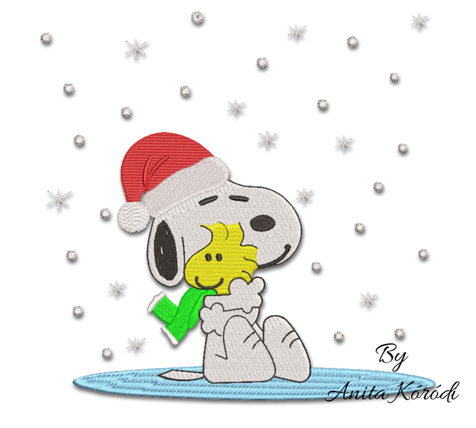 Snoopy embroidery designs winter christmas machine pattern pes