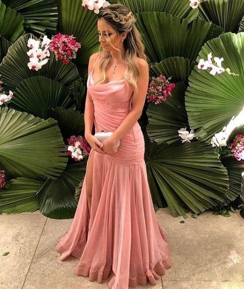 Mermaid Pink Prom Dress , Sexy Prom Dress  M6570