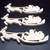 Pkg of 3 Santa and Sleigh Unfinished Wood Cutouts WCO-41-25 Unfinished