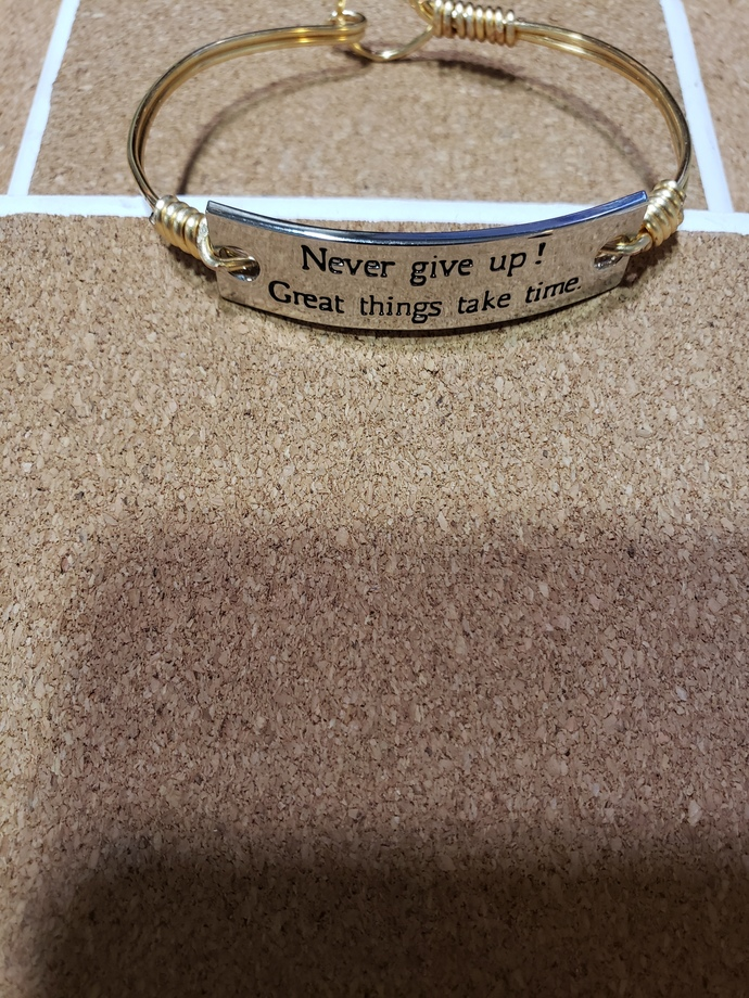 Goldtone inspirational bracelets