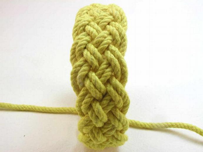 bright yellow knot bracelet adjustable turks head knot bracelet 1740