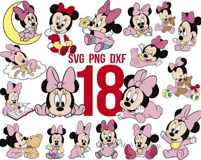 Disney Babies Svg Bundle Disney Svg Baby By Rhinodigital On Zibbet