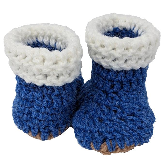 Newborn Blue Booties