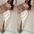 flare sleeve beaded evening dresses long sleeve mermaid ivory elegant arabic