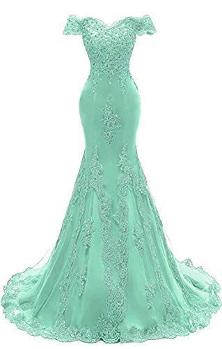 Off The Shoulder Prom Dresses Long Mermaid Sweetheart Beaded Lace Formal Evening