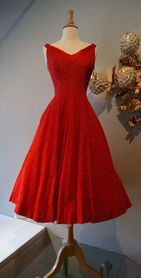 Red Prom Dress,Lace Prom Dress,A Line Prom Dress,Fashion Prom Dress,Sexy Party