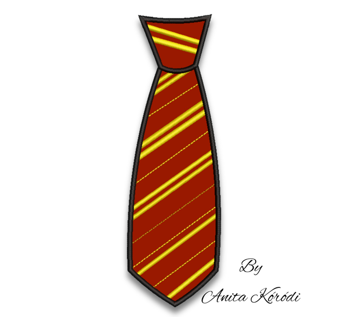 Gryffindor-Tie Embroidery Machine Designs Applique Harry Potter pes file in the