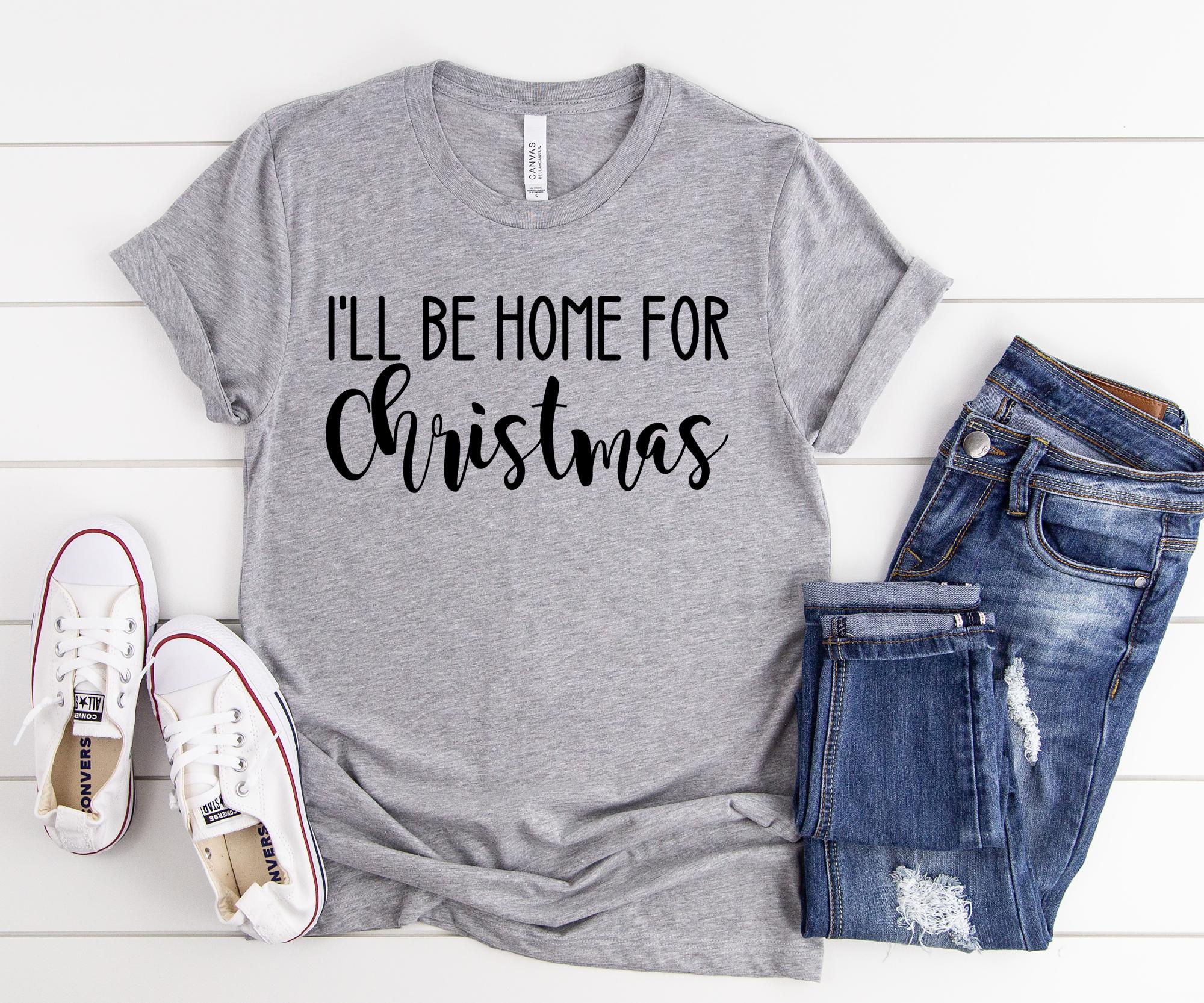 I'll be home for Christmas, Christmas party shirt, Christmas shirt, Matching